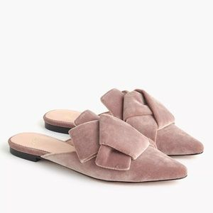J.Crew Pointed- toe Slides In Suede